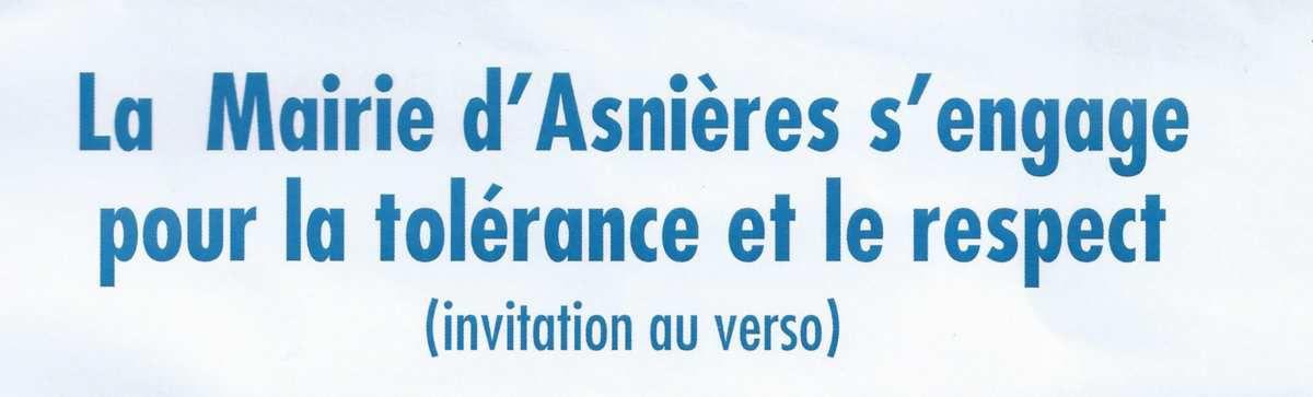 #Asnières, cérémonie interreligieuse: Aeschlimann s'engage pour la tolérance et le respect. Faut-il en rire ou en pleurer ?