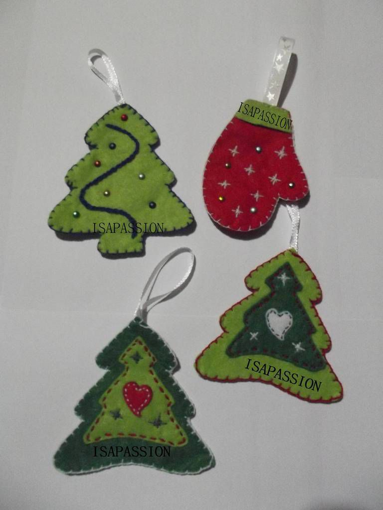 Suspensions De Noel En Feutrine Isapassion01200 Over Blog Com