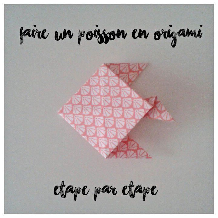 faire un poisson en origami le monde de miss s. Black Bedroom Furniture Sets. Home Design Ideas