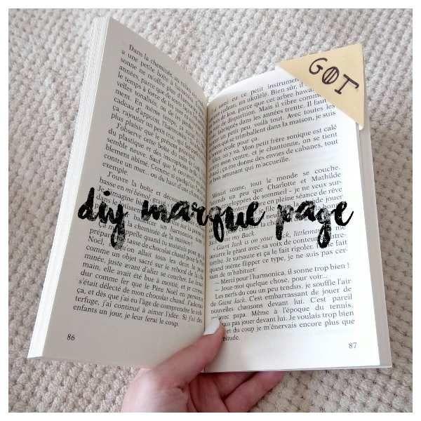 [DIY] Marque page