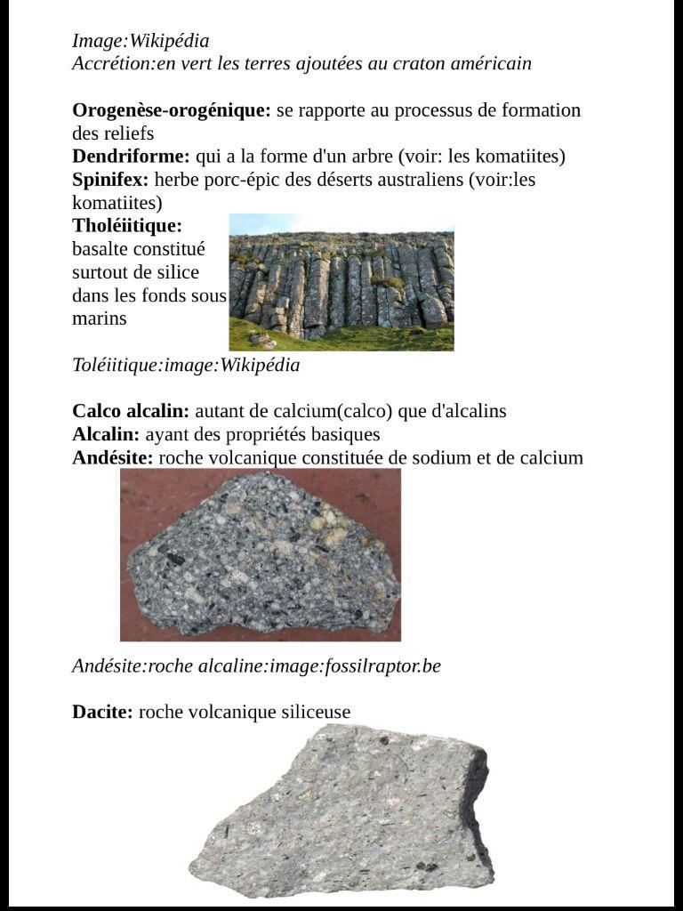Lexique Géologique