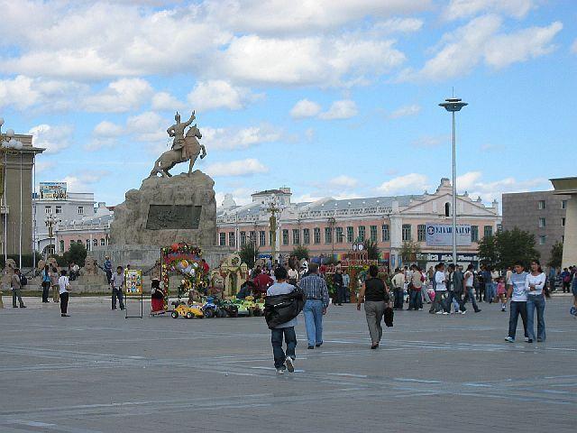 la statue équestre de Sukhbaatar