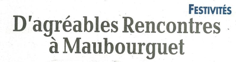 Article de la Nouvelle République du 16.08 sur le week-end des Fêtes et Rencontres de Maubourguet