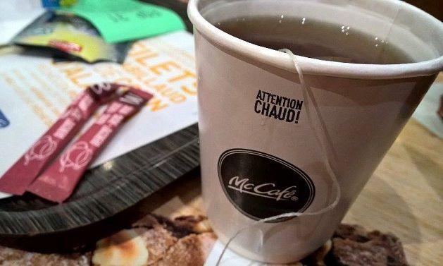 Voici donc le thé que j'ai commandé.