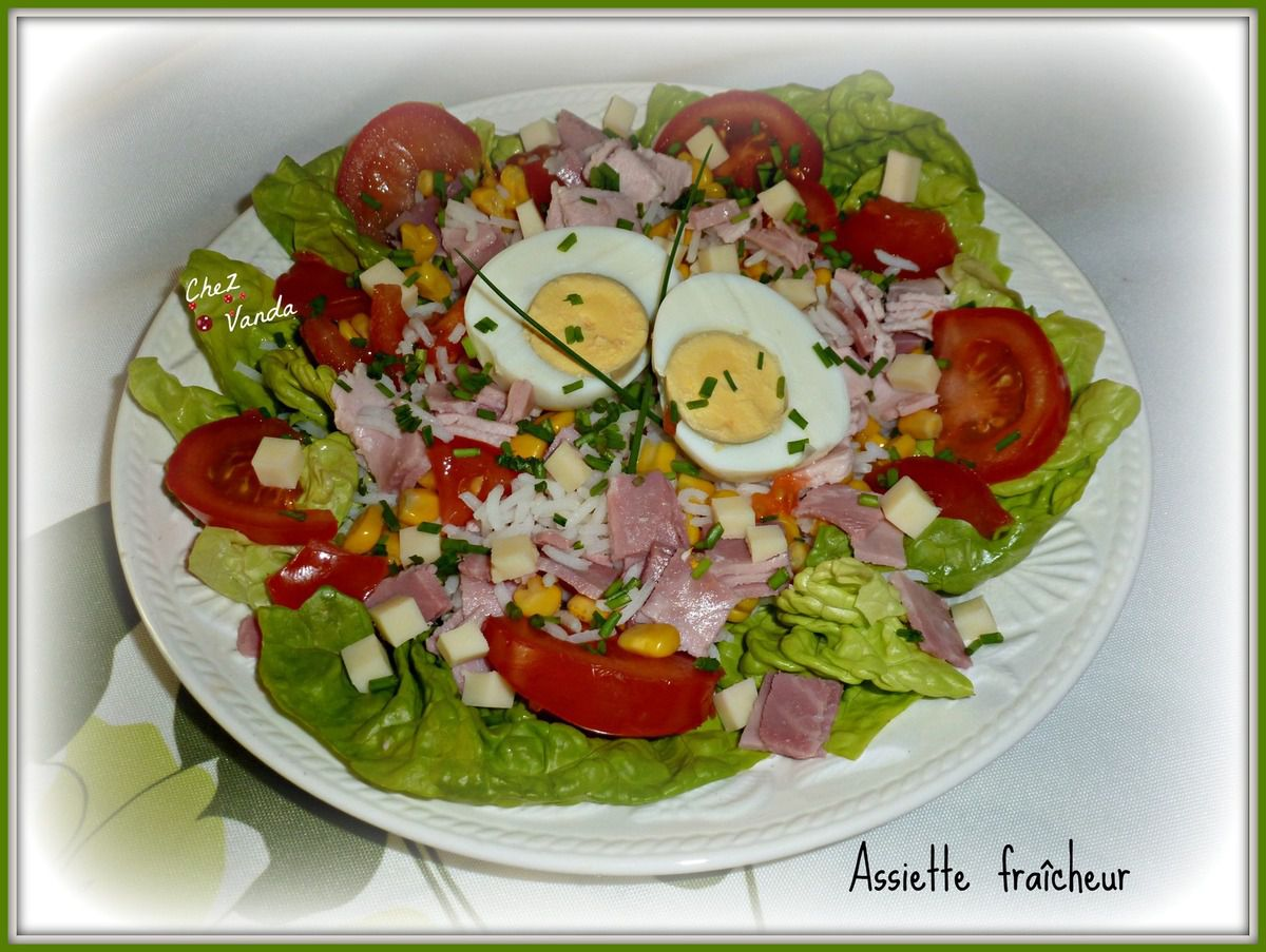 Salades composees chez vanda for Une entree froide