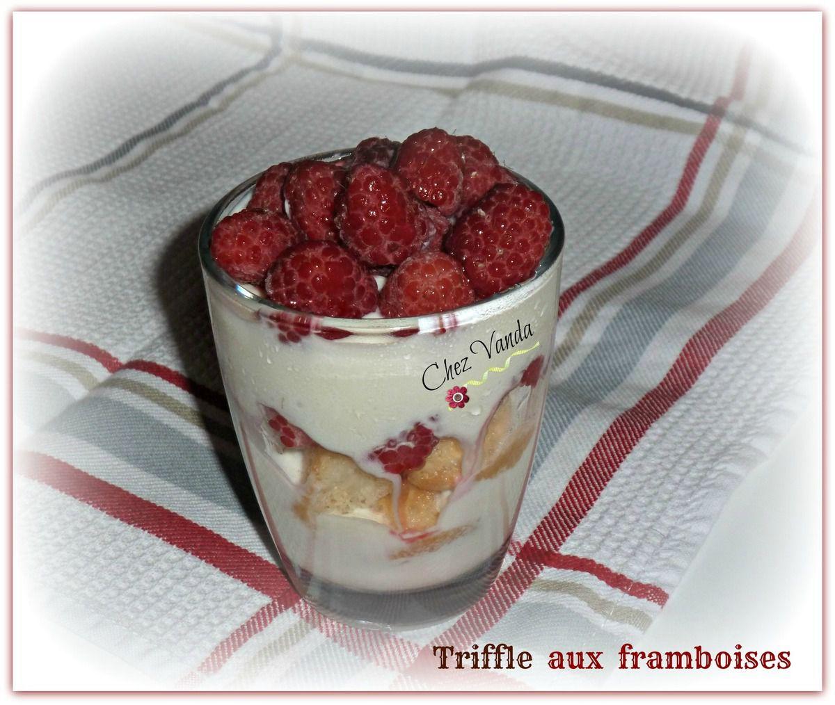 Trifle aux framboises