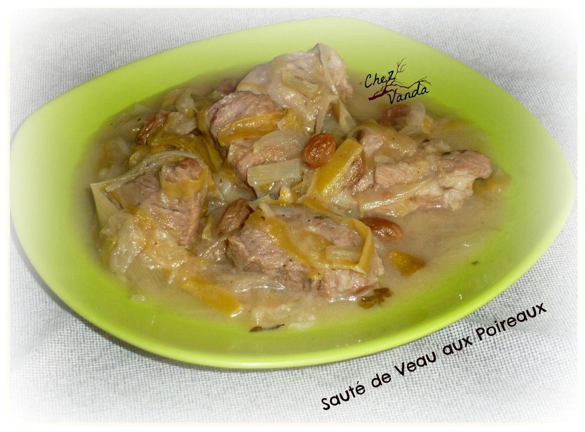 Sauté de veau aux poireaux