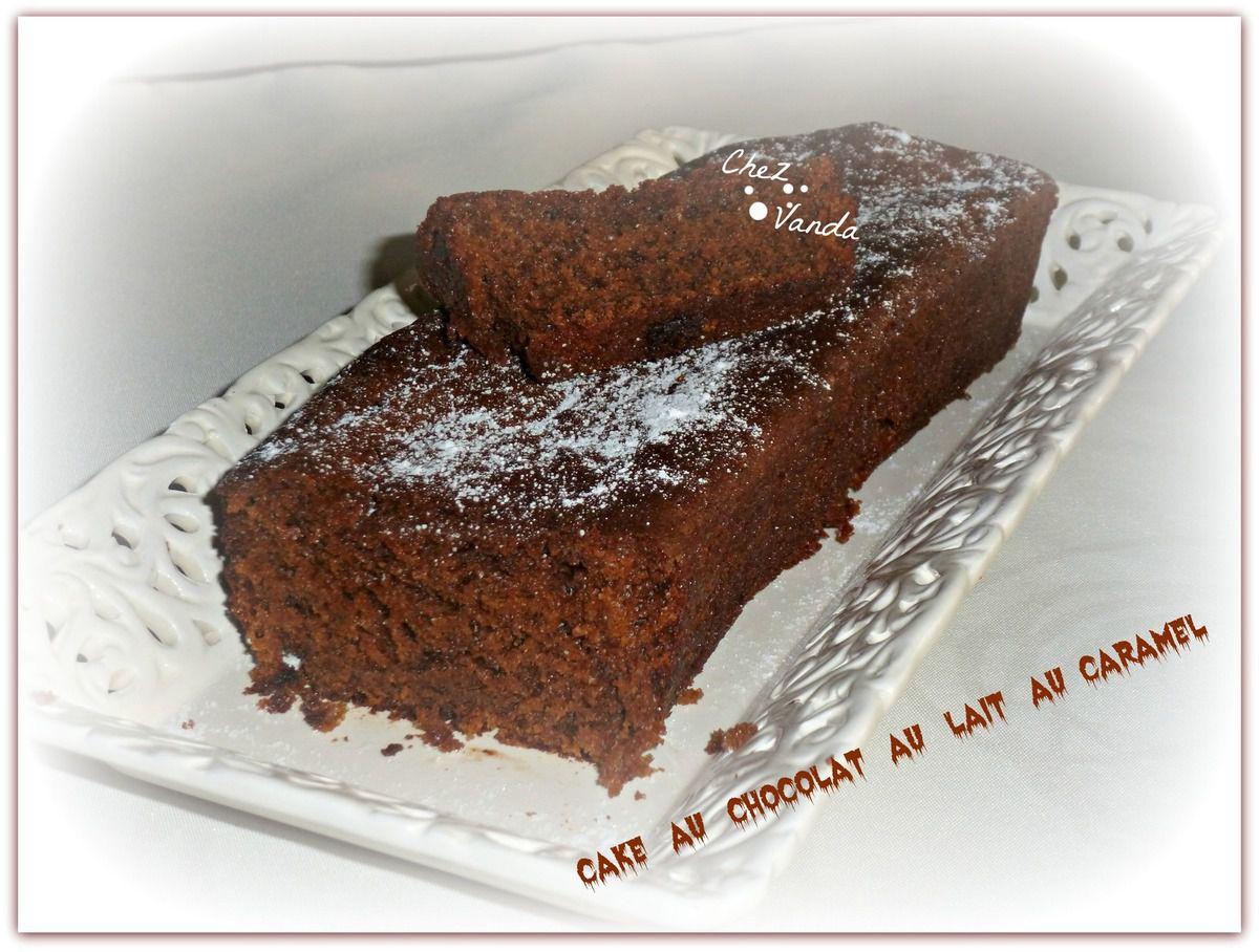 Cake au chocolat au lait au caramel
