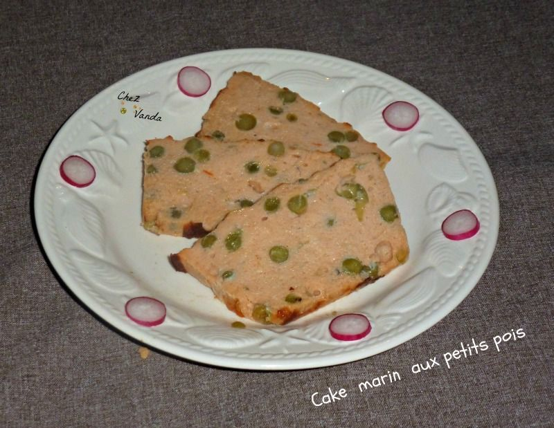 Cake marin aux petits pois