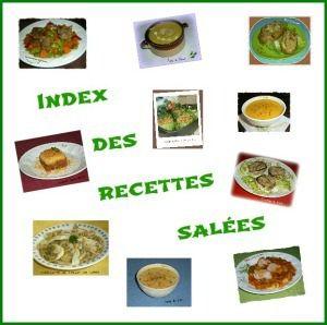 Index recettes salées