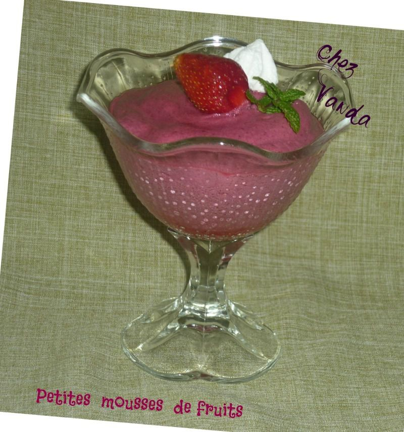 Petites mousses de fruits