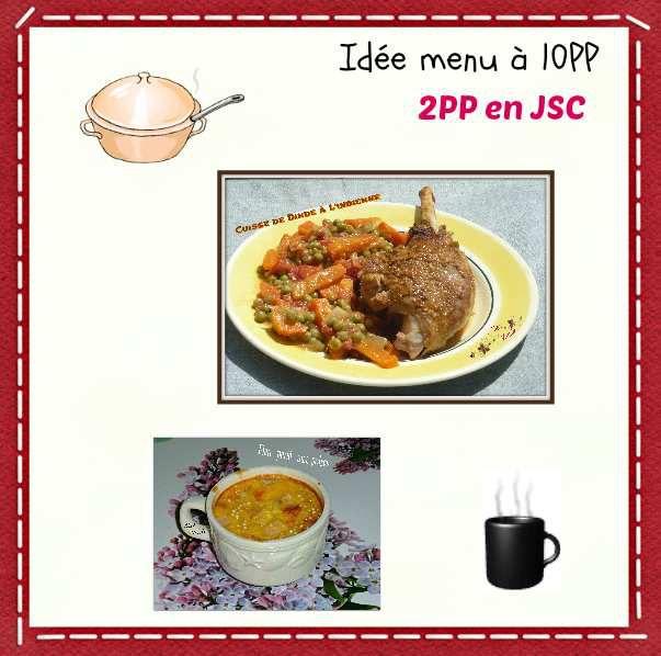 Menu à 10PP et 2PP en JSC