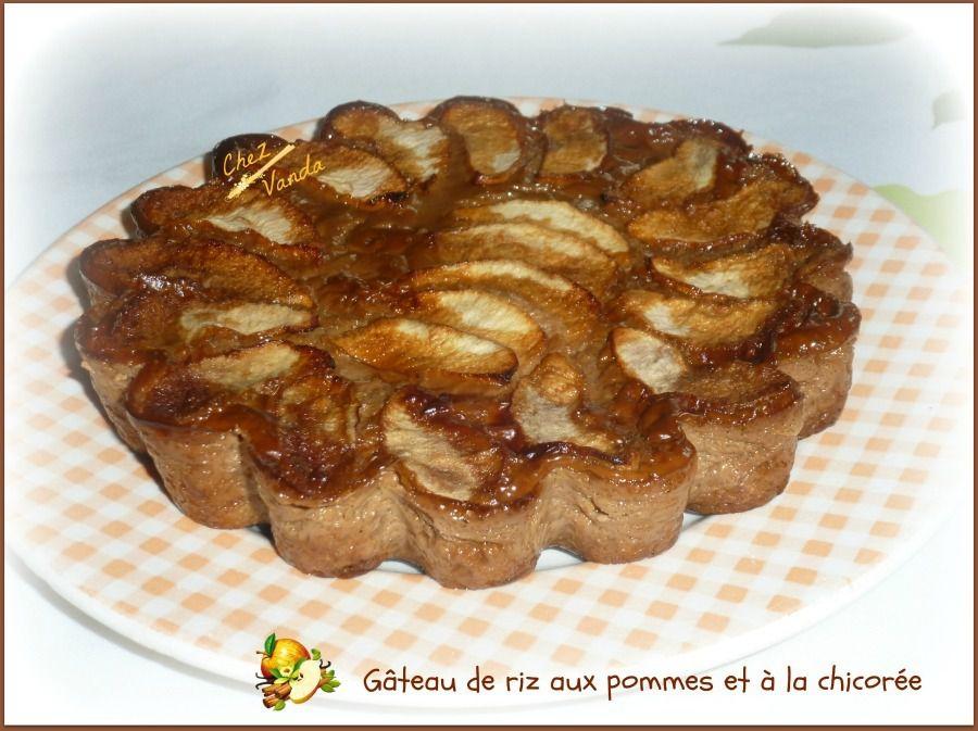 Gâteau  de riz aux pommes et à la chicorée