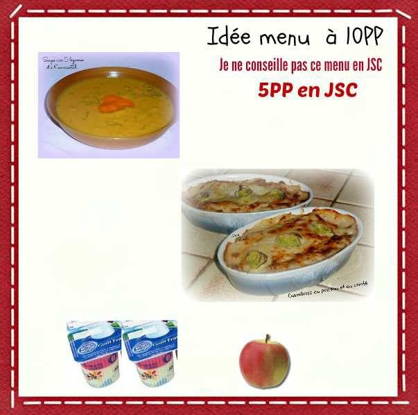 Idée menu à 10PP et  5PP en JSC
