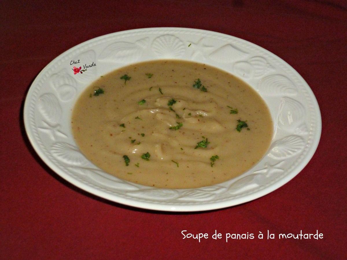 Soupe de panais à la moutarde