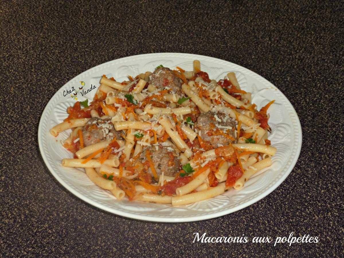 Macaronis aux polpettes