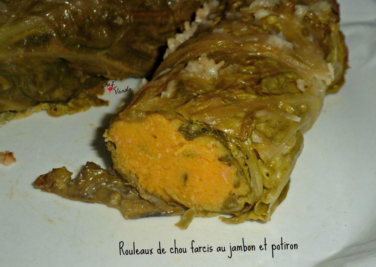 Rouleaux de chou farcis au  jambon &amp&#x3B; potiron