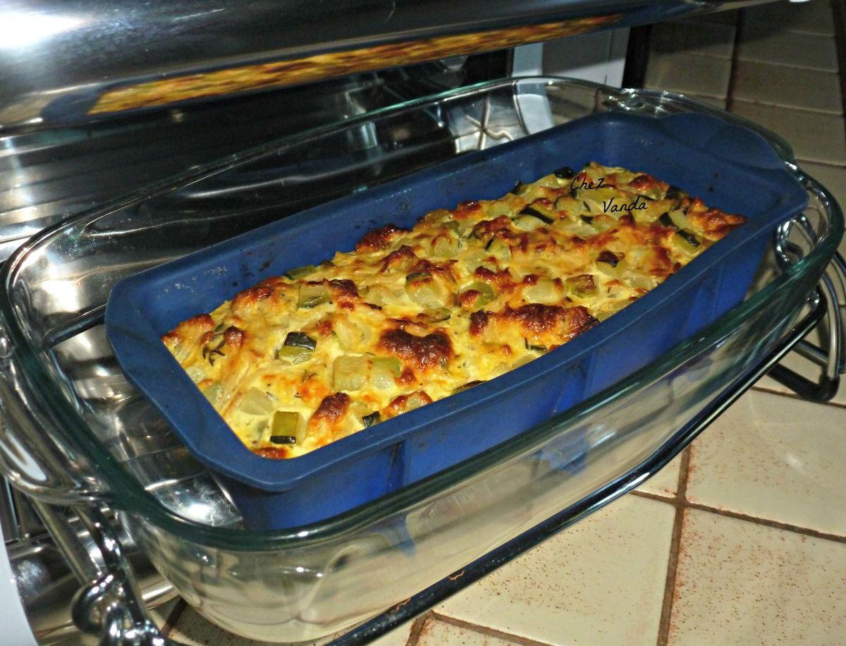 Terrine de courgettes au thym ( façon pudding) et mon  idée menu
