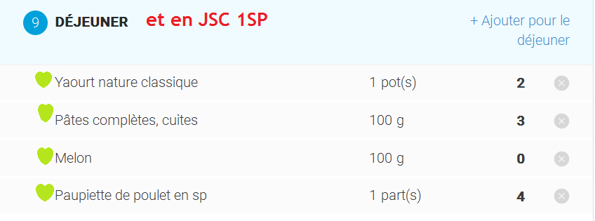 Idée menu à 9SP  ou  9PP