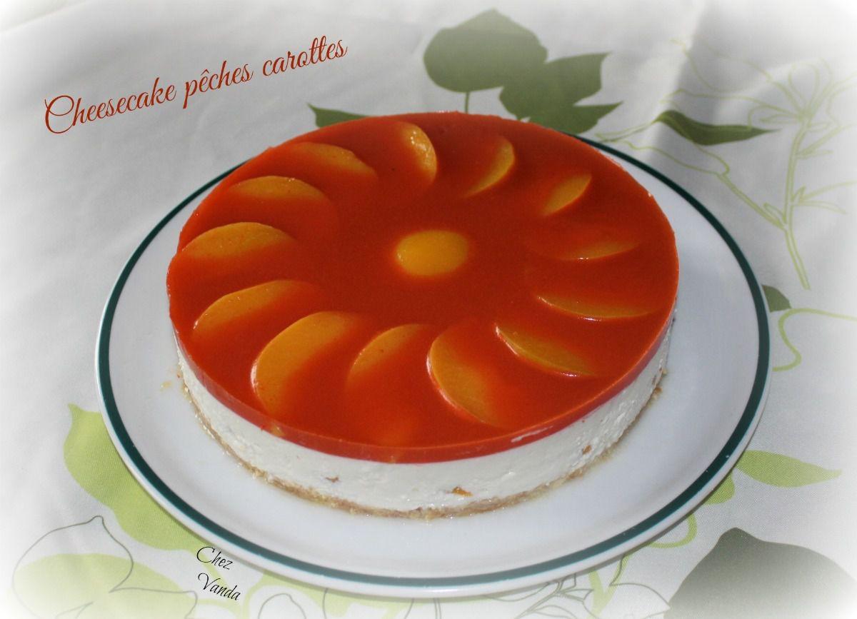 Cheesecake pêches carottes (sans cuisson)