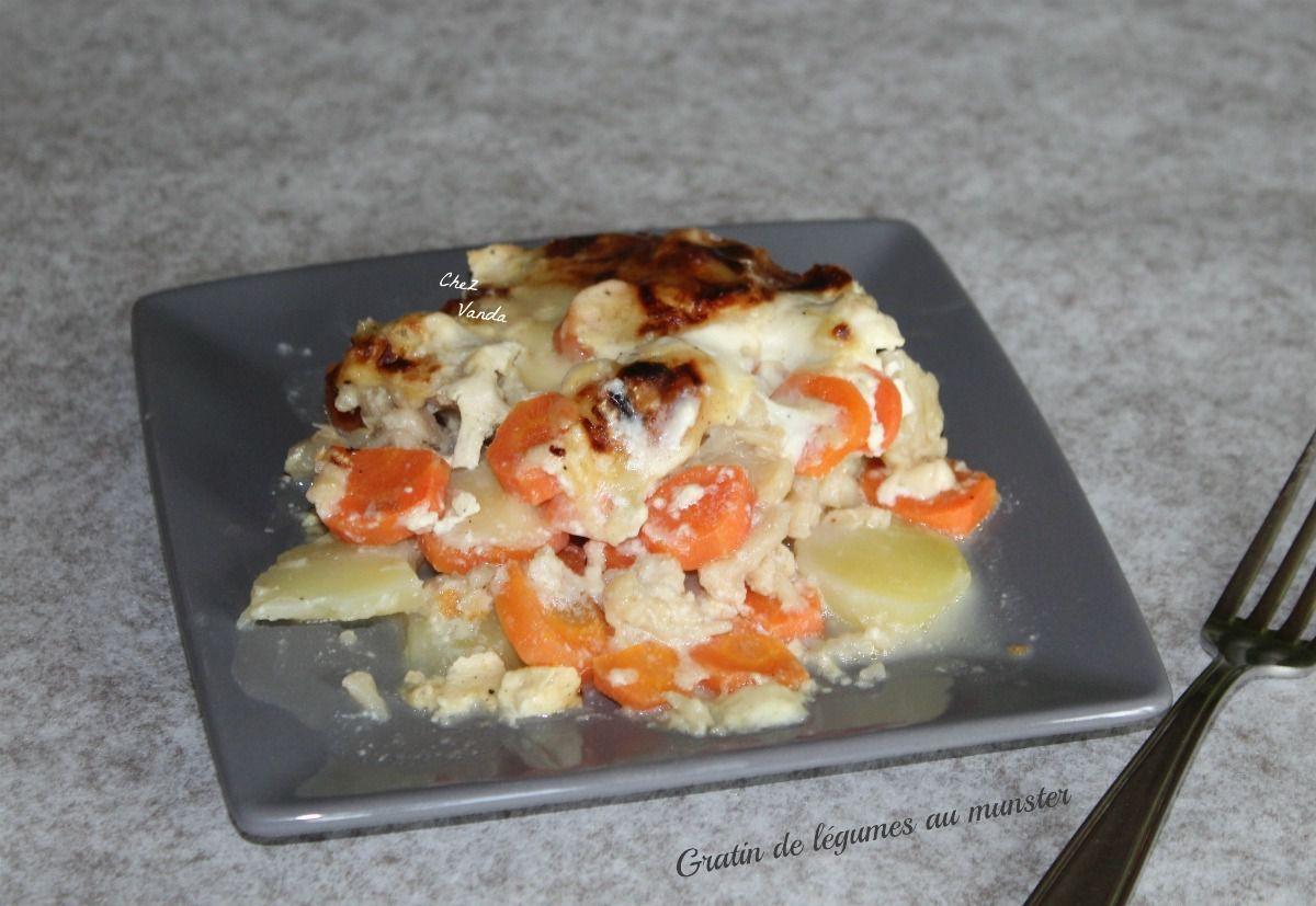 Gratin de légumes au munster
