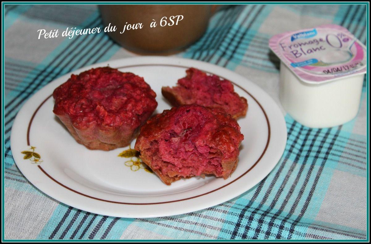 Muffins roses (pommes framboises )