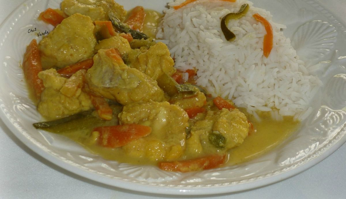 Curry de poisson à la noix de  coco