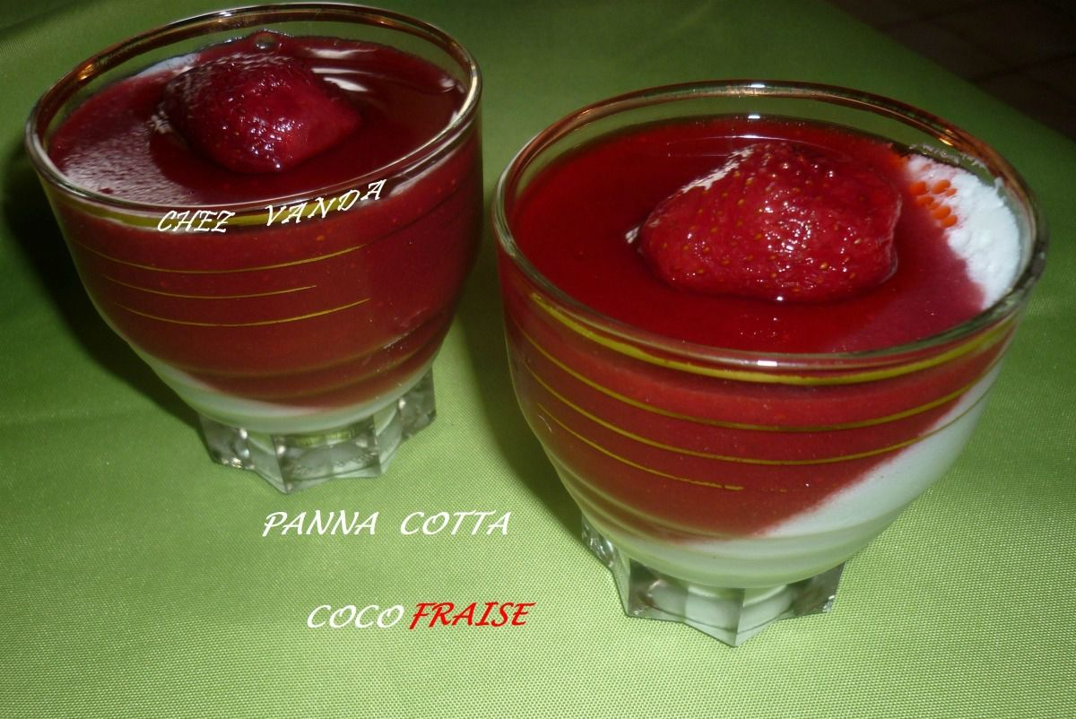 Panna cotta fraises coco