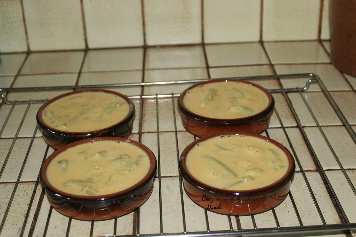 Clafoutis rhubarbe vanille