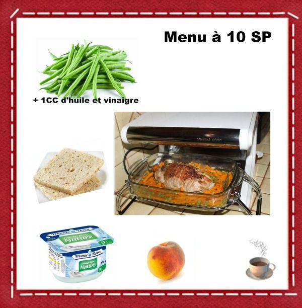 Déjeuner à 10 SP et  0 SP en journée sans compter