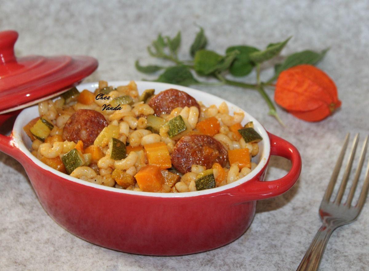 Coquillotto au chorizo ,courgettes et parmesan