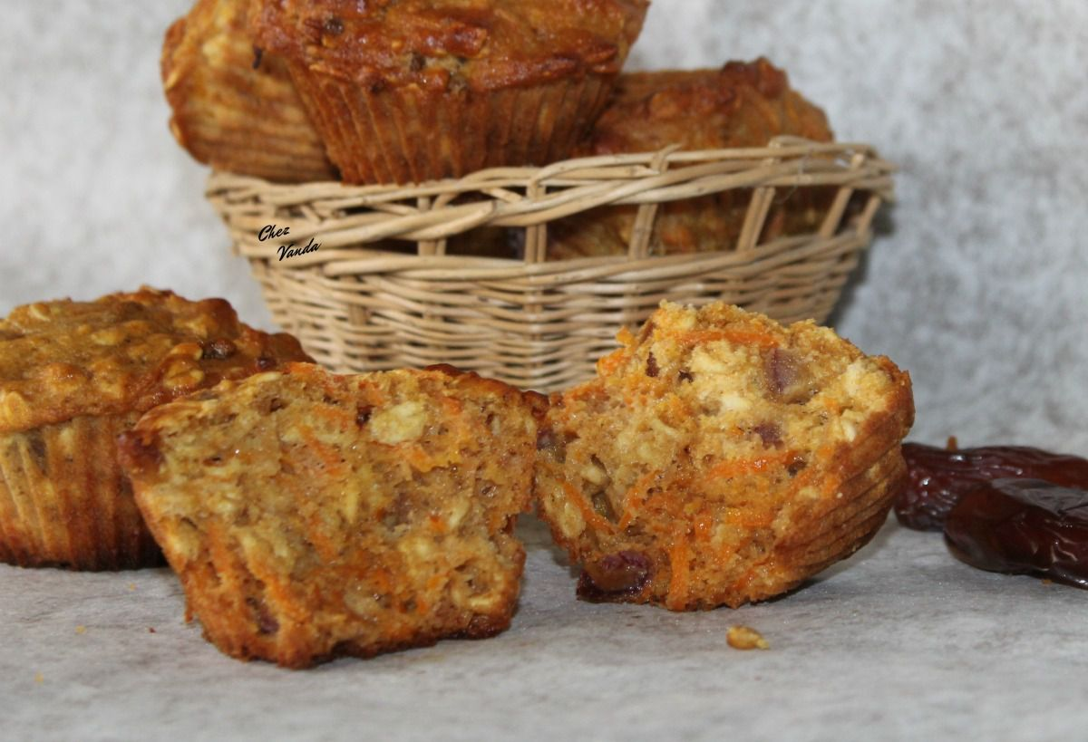 Muffins orange carotte et dattes