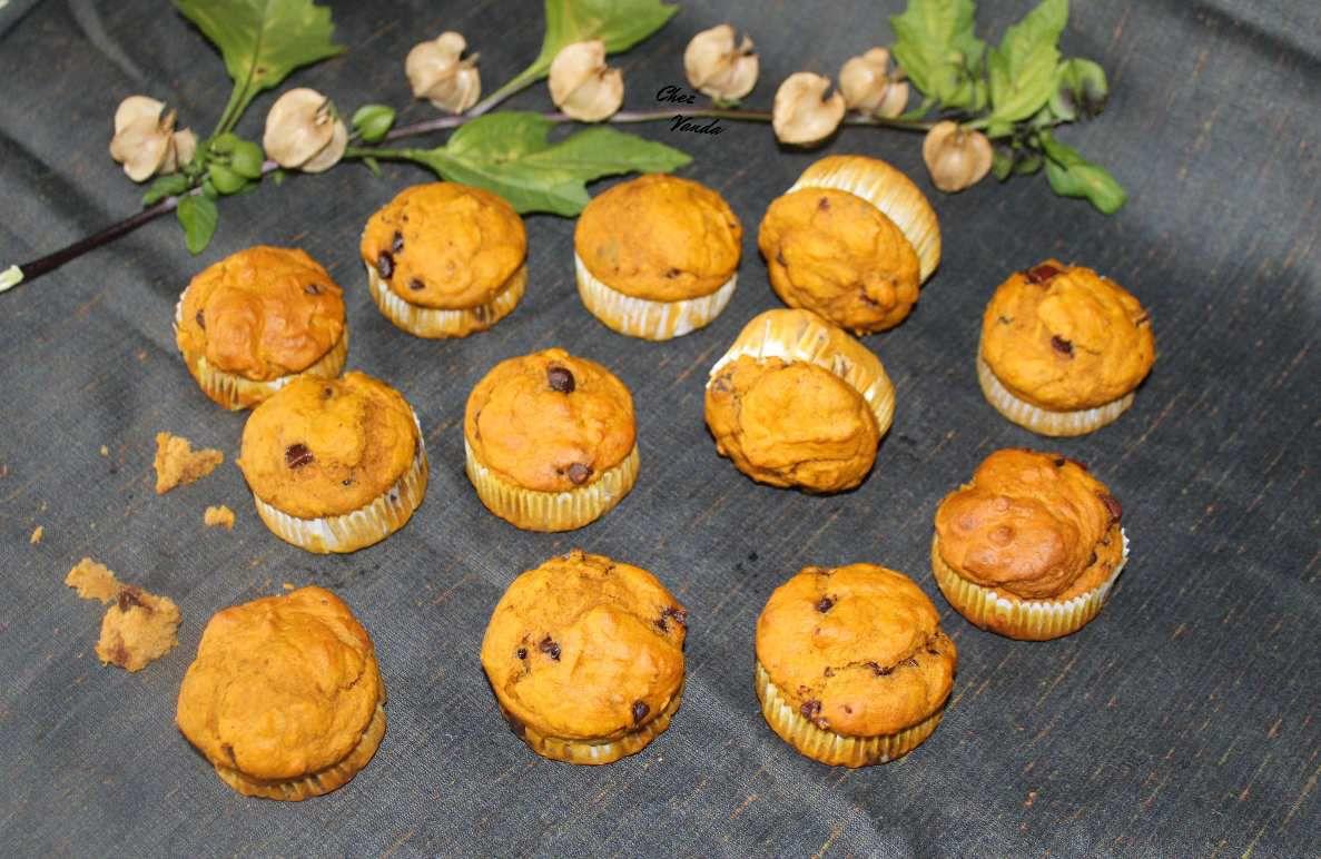 Muffins potiron chocolat
