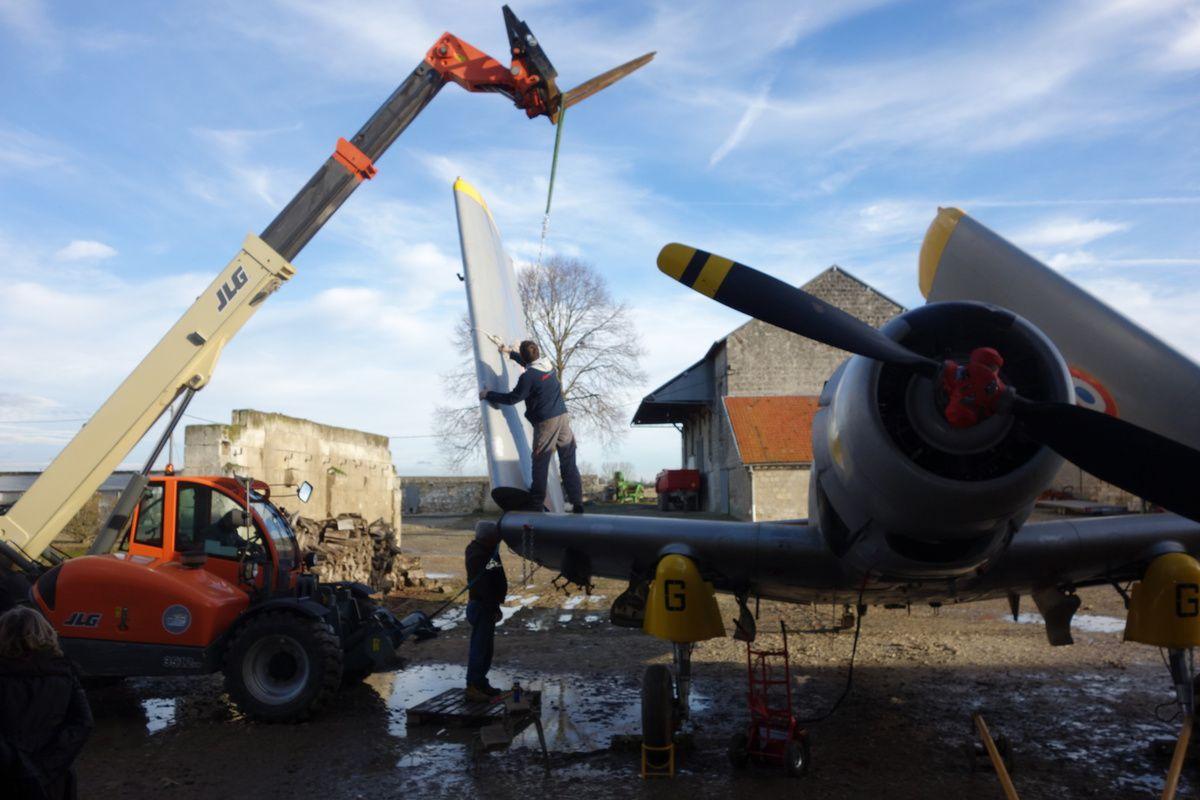 Le Skyraider sur le départ ...