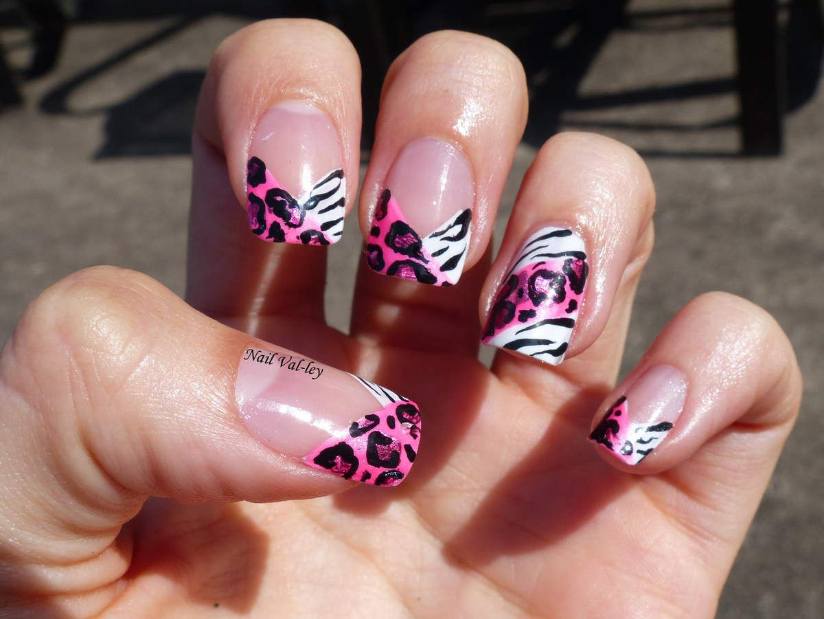 Nail art: Zébré et léopard girly