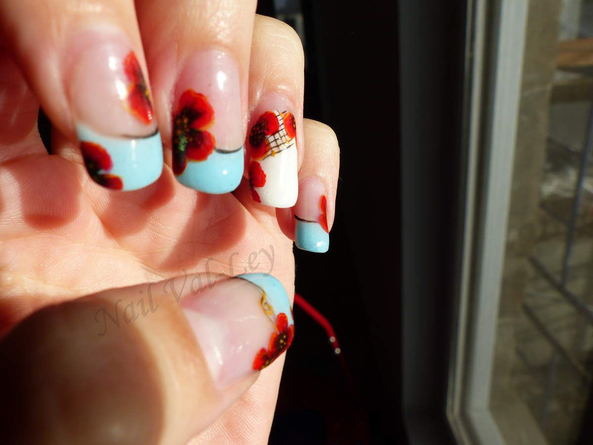 Nail art: One stroke coquelicots
