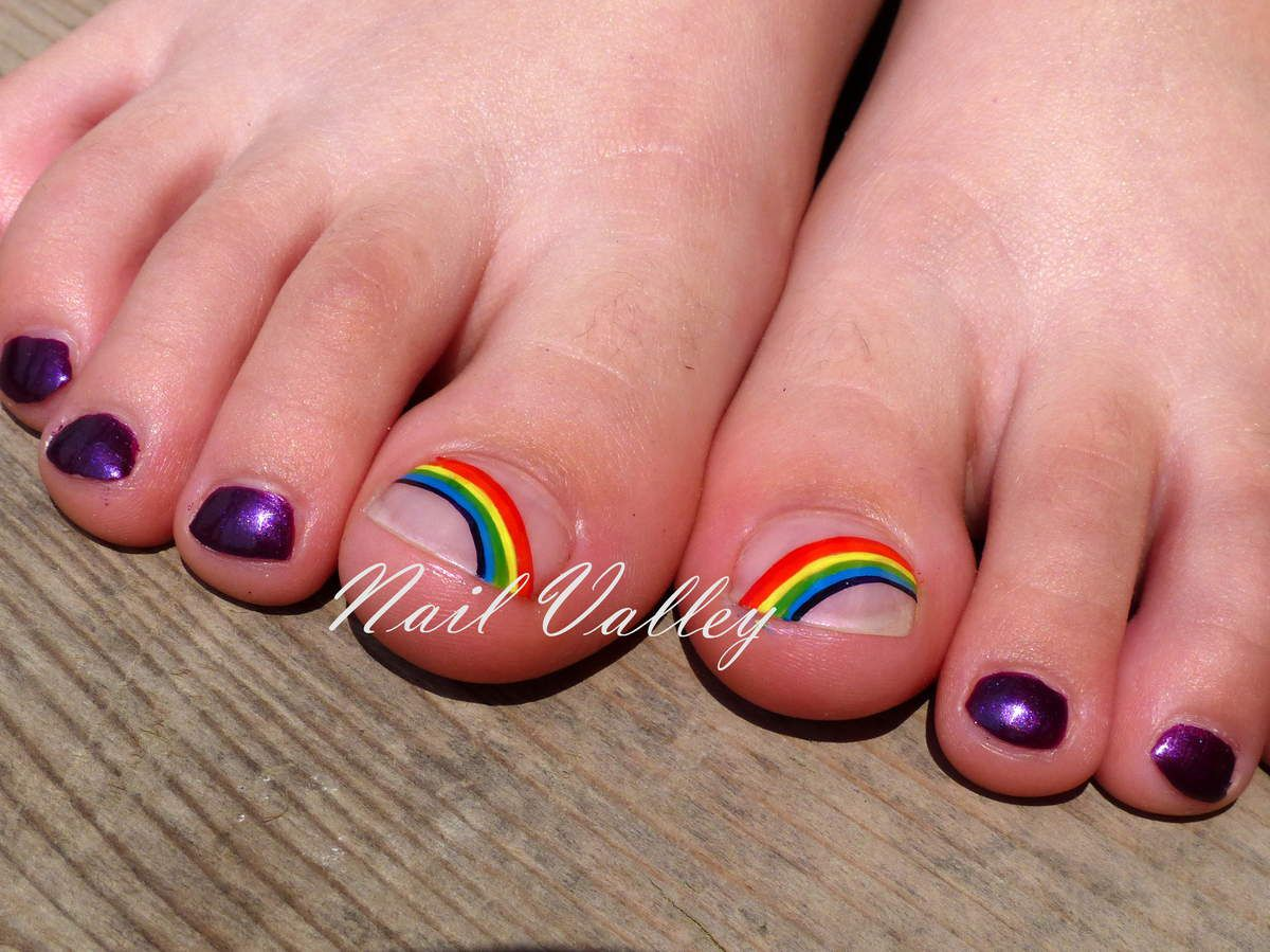 Nail art: Arc-en-ciel