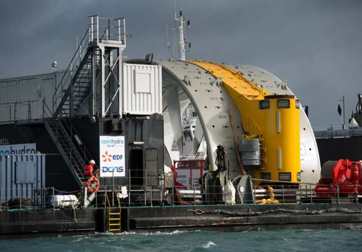 Deux hydroliennes made in Cherbourg