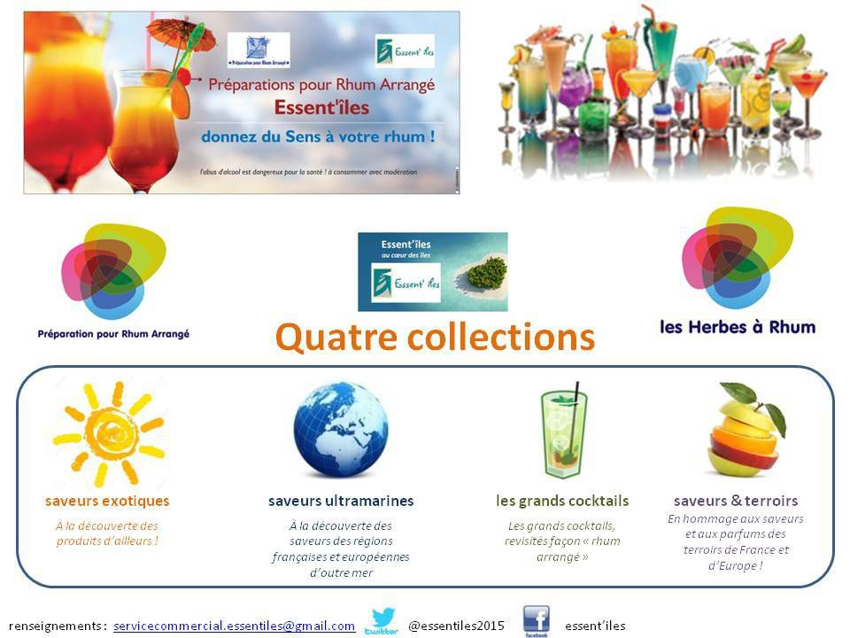 Nouvelle gamme Essent'îles 2016 - collections & ingrédients