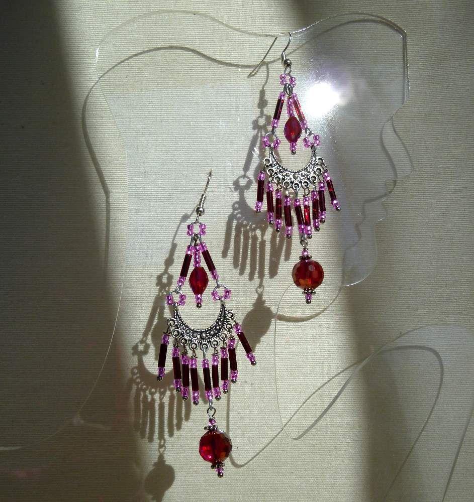 Longues boucles d'oreille frangées de style oriental