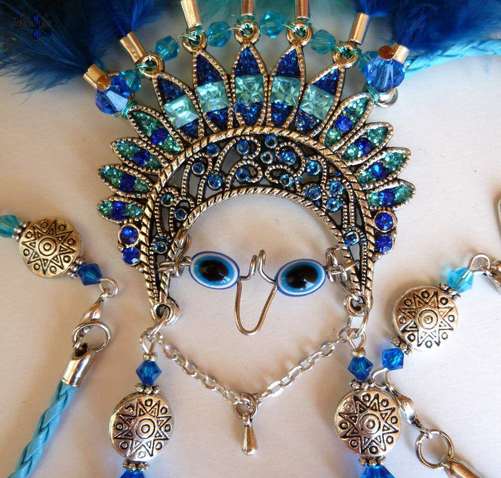 Chalchiutlicue collier talisman déesse aztèque