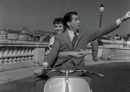 William Wyler. Rome en 1953, Gregory Peck et Audrey Hepburn