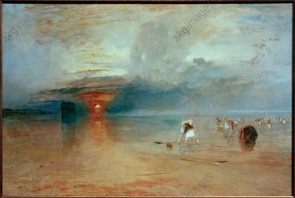 "Turner, William 1775–1851.  ""Plage de Calais à marée basse. Poissards ramassant des appâts"", 1830."