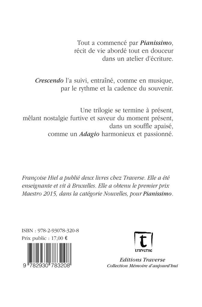 &quot&#x3B;Adagio&quot&#x3B; de Françoise Hiel / nouvelles