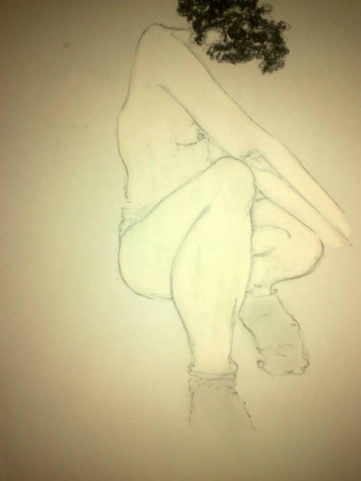Pascaline Boura 21 x 29  Crayon à papier, mine graphite et pastels