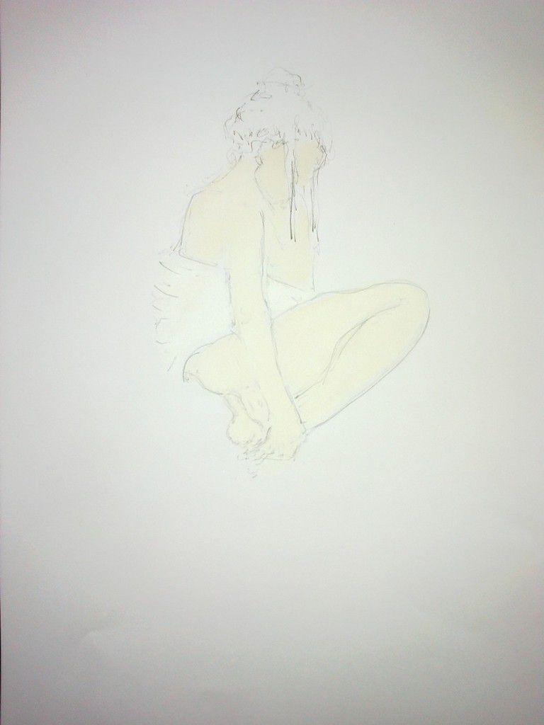Esquisse de Jeanne H .  42 x30