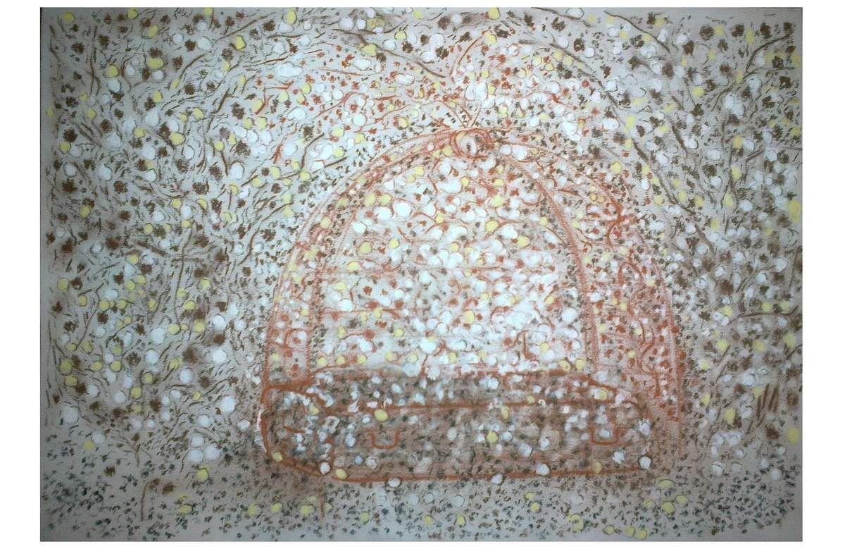 Onzième dialogue    Sanguine, pierre noire, sépia, fusain et pastel     30 x 42