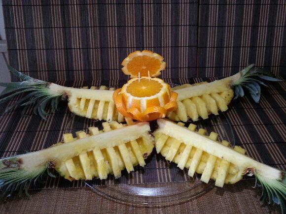 Votre orange sculptée est terminée. Vous pouvez l'utiliser en belle décoration pour agrémenter et embellir vos réalisations