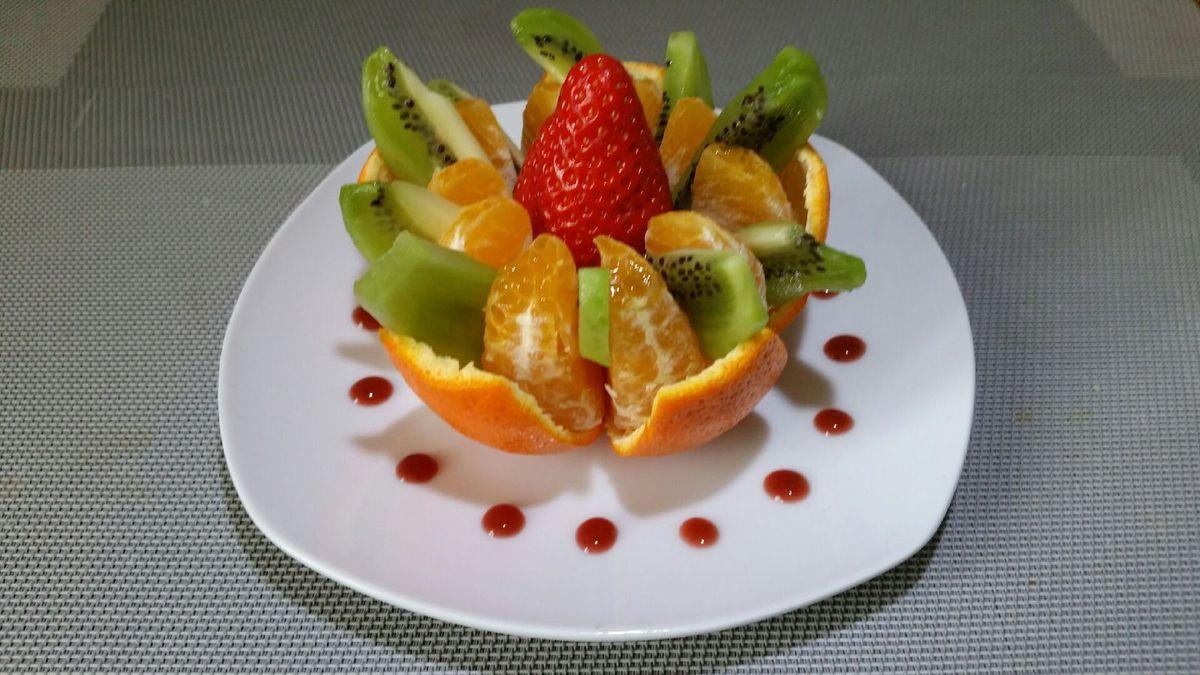 Favori FLEUR DE MANDARINE-KIWI AU COEUR DE FRAISE - toc-cuisine.fr KL11