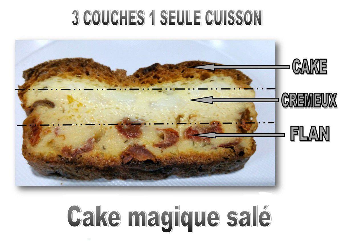 cake magique salé tomates séchées-mozzarella